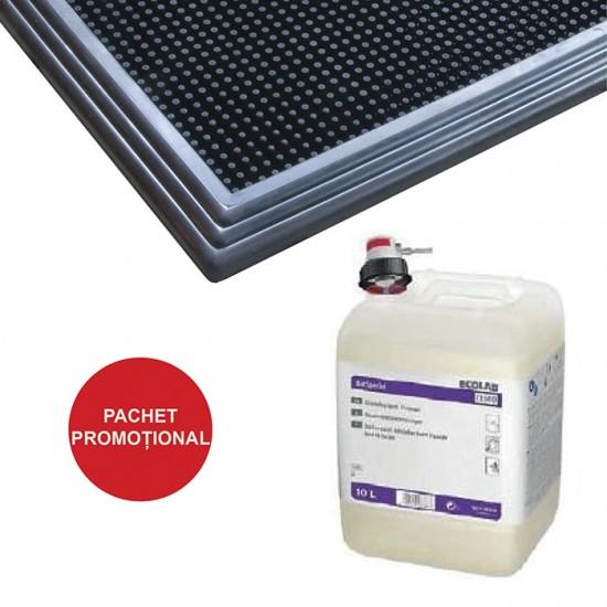 Pachet Covor dezinfectant Sani-Trax si Detergent dezinfectant BACSPECIAL EL 500 5L Ecolab