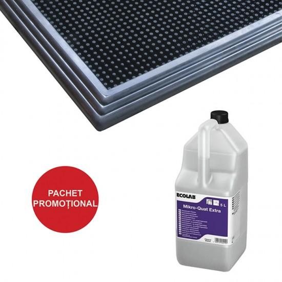Pachet Covor dezinfectant Sani-Trax si Detergent dezinfectant Mikro quat extra 5 L Ecolab